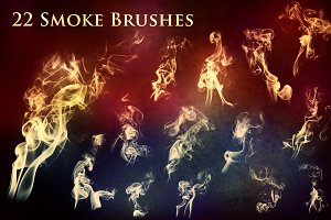 22 Smoke and Fire Brushes & PNG