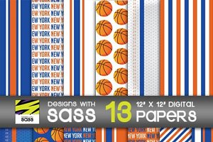 Digital Paper, New York Basketball