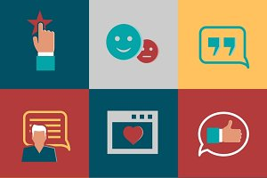 Vector consumer loyalty flat icons