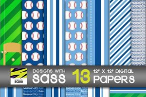 Digital Paper, Kansas City Baseball