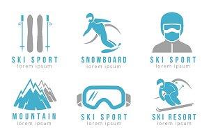 Ski resort and mountain hotel logos
