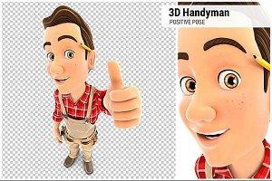 3D Handyman Positive Pose