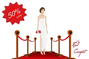 Red Carpet : Fashion Silhoutte