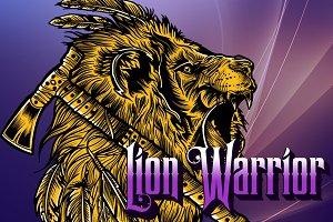 Lion Warrior Vector