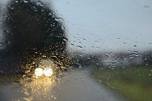 Drive under the rain