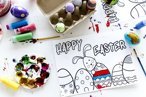 Kids easter artworks