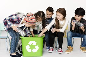 Kids environment recycle