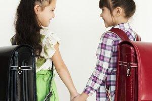 Young girls friendship together