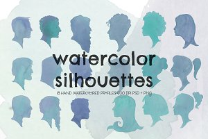 Watercolor Silhouettes - ON SALE
