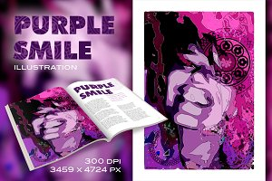 Purple Smile illustration