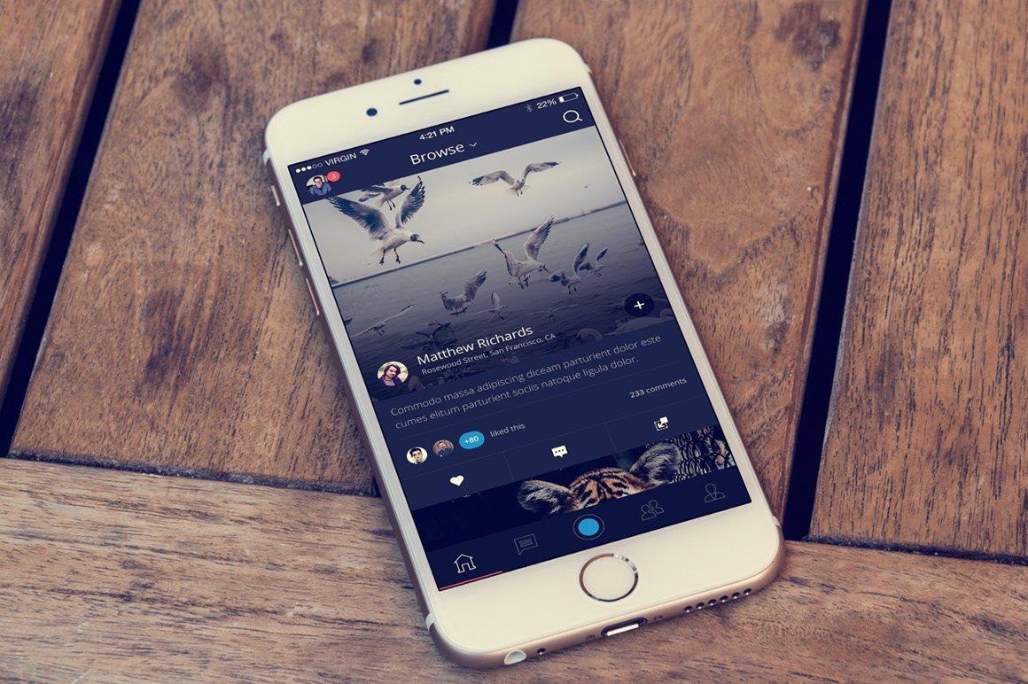Flux - iPhone App Template ~ Templates ~ Creative Market