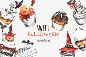sweet hallowen cupcakes