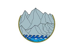 Rugged Mountain Range Waves