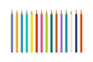 Set of Color Pencils Vector Illustration isolated
