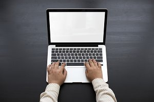 People Hands Using Laptop