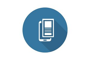 Mobile Landing Page Icon. Flat Design.