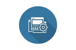Landing Page Generator Icon. Flat Design.