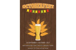 Octoberfest Creative Poster Information Holiday