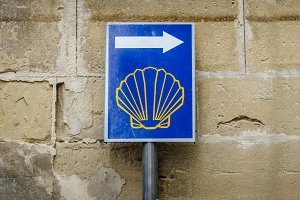 Sign of Camino de Santiago, Spain