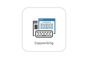 Copywriting Icon. Flat Design.