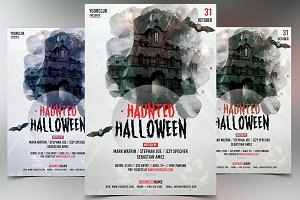 Haunted Halloween - PSD Flyer