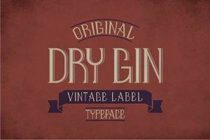 Dry Gin Vintage Label Typeface