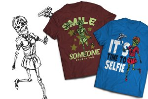 Selfie T-shirts And Poster Labels