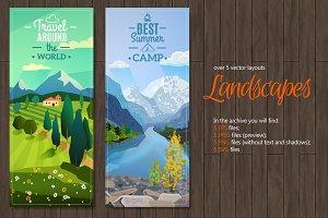 Mountain Landscapes Set