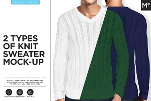 2 Types of Knit Sweater Mock-up