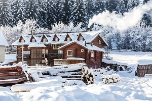 Winter architectural landscape