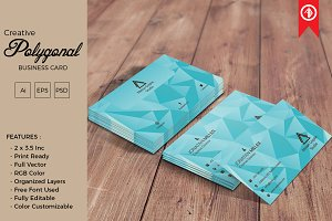 Creative Polygonal Business Card