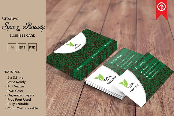 spa beauty business card - Spa Business Cards