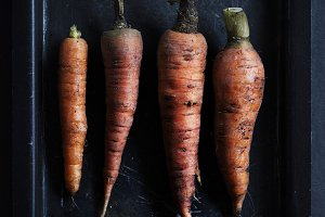 Fresh carrots vegetable
