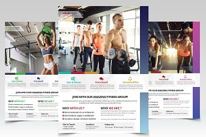 Fitness and Gym - 3 PSD Flyers