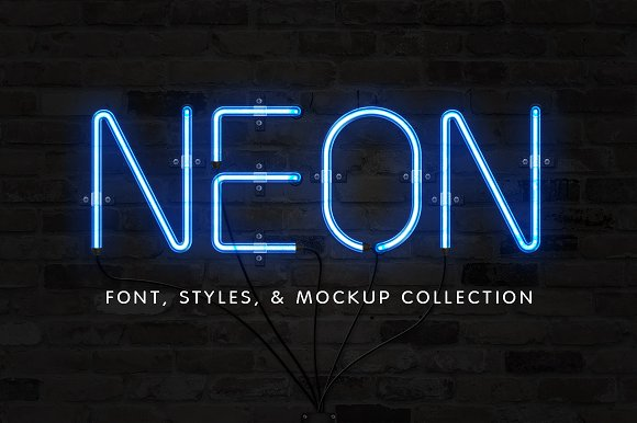 The neon font sign collection display fonts creative market altavistaventures Gallery