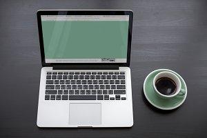 Laptop Showing Green Screen
