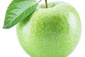 green apple fruit on the white