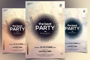 The Beat - Minimal PSD Flyer