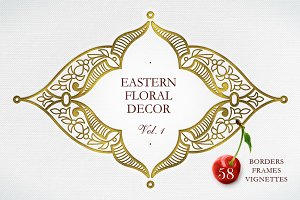 Kit Of Eastern Vector Decor. Vol.1