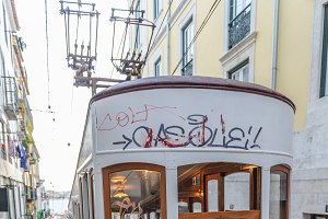 Classic tram of Lisbon, Portugal