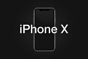 iPhone X Vector Mockup