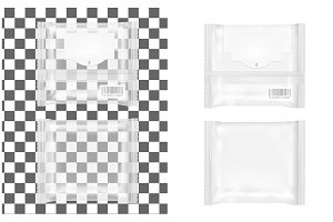 Transparent package with flap