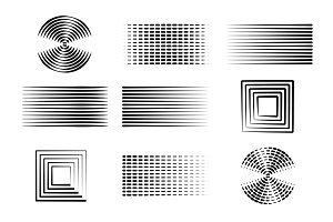 Abstract shapes for designers