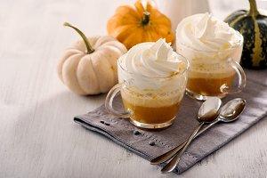 Pumpkin spice latte hot drink