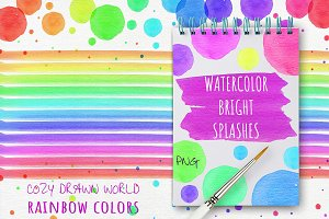 Watercolor Bright Splashes