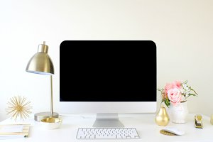 Mac Desktop Styled Stock Photography