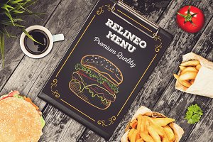 Fast Food Menu Mock-up #1