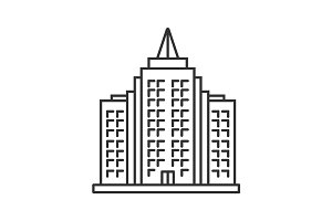 Skyscraper linear icon