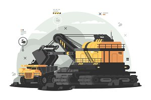 Heavy machinery for coal mining
