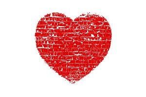 Heart Grunge Brick